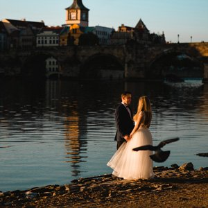 Prague wedding photo